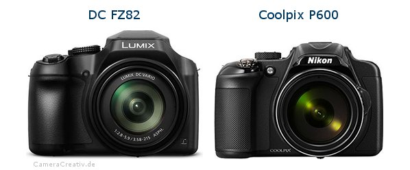 Panasonic dc fz 82 vs Nikon coolpix p600
