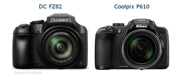 Panasonic dc fz 82 vs Nikon coolpix p610