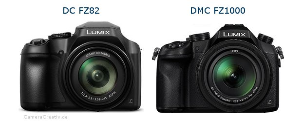 Panasonic dc fz 82 vs Panasonic dmc fz 1000
