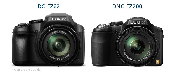 Panasonic dc fz 82 vs Panasonic dmc fz 200