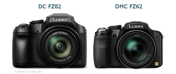 Panasonic dc fz 82 vs Panasonic dmc fz 62