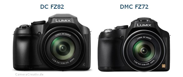 Panasonic dc fz 82 vs Panasonic dmc fz 72