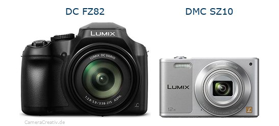 Panasonic dc fz 82 vs Panasonic dmc sz 10
