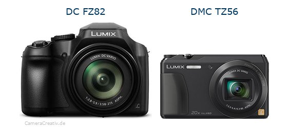 Panasonic dc fz 82 vs Panasonic dmc tz 56