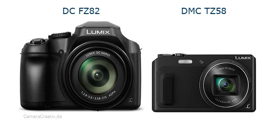 Panasonic dc fz 82 vs Panasonic dmc tz 58