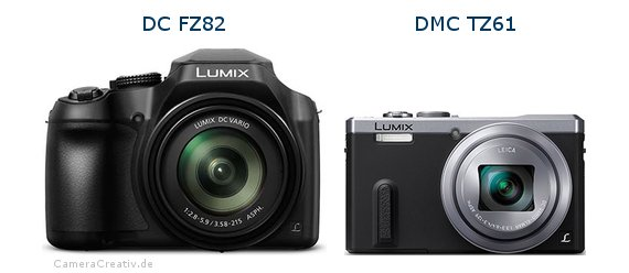 Panasonic dc fz 82 vs Panasonic dmc tz 61