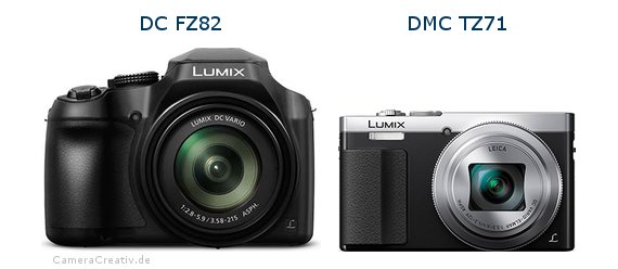 Panasonic dc fz 82 vs Panasonic dmc tz 71