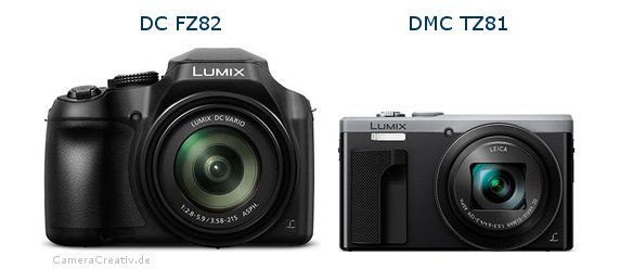 Panasonic dc fz 82 vs Panasonic dmc tz 81