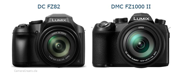 Panasonic dc fz 82 vs Panasonic lumix fz1000 ii