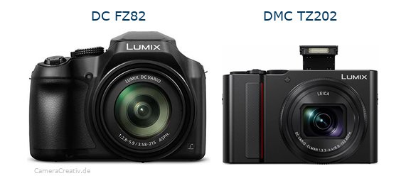 Panasonic dc fz 82 vs Panasonic lumix tz 202