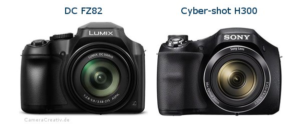 Panasonic dc fz 82 vs Sony cyber shot h300