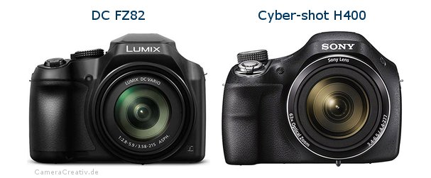 Panasonic dc fz 82 vs Sony cyber shot h400