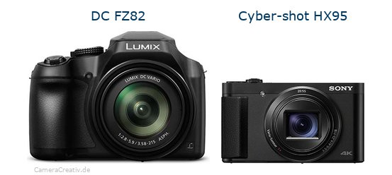 Panasonic dc fz 82 vs Sony cyber shot hx 95