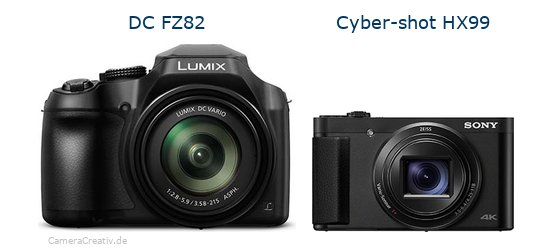 Panasonic dc fz 82 vs Sony cyber shot hx 99