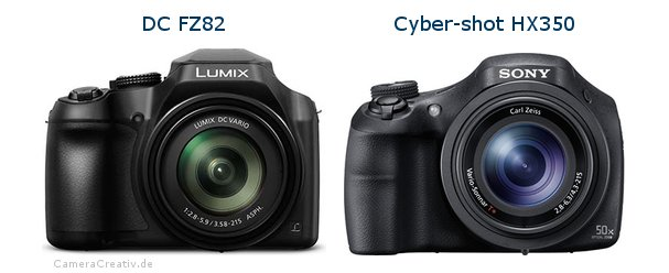 Panasonic dc fz 82 vs Sony cyber shot hx350