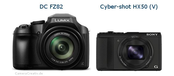 Panasonic dc fz 82 vs Sony cyber shot hx50