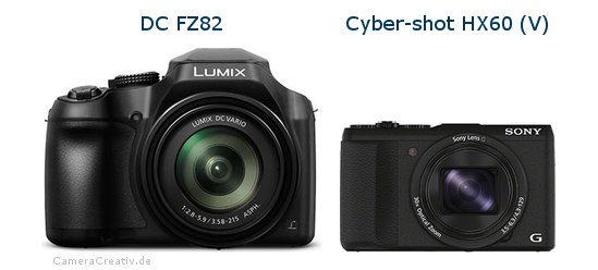 Panasonic dc fz 82 vs Sony cyber shot hx60