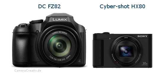 Panasonic dc fz 82 vs Sony cyber shot hx80