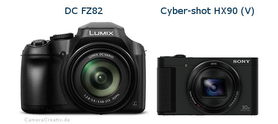 Panasonic dc fz 82 vs Sony cyber shot hx90