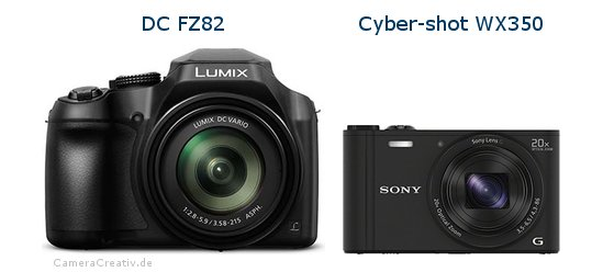 Panasonic dc fz 82 vs Sony cyber shot wx350