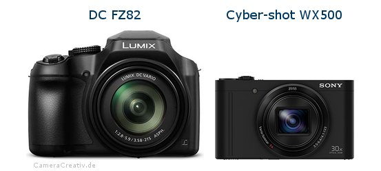 Panasonic dc fz 82 vs Sony cyber shot wx500