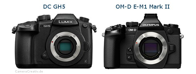 Panasonic dc gh 5 vs Olympus om d e m1 mark ii