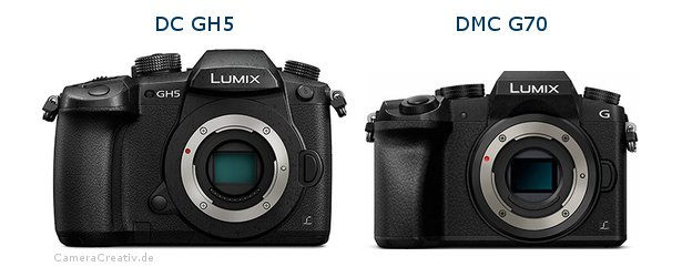 Panasonic dc gh 5 vs Panasonic dmc g 70