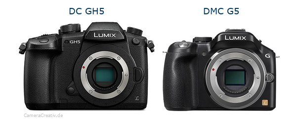 Panasonic dc gh 5 vs Panasonic dmc g5