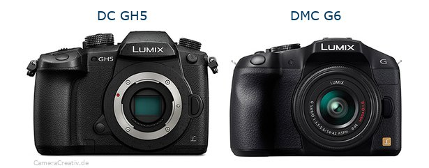 Panasonic dc gh 5 vs Panasonic dmc g6