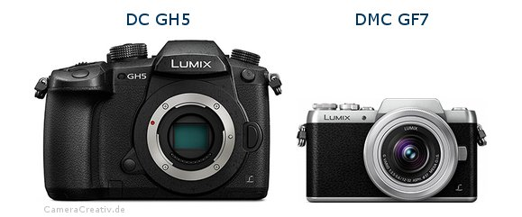 Panasonic dc gh 5 vs Panasonic dmc gf 7