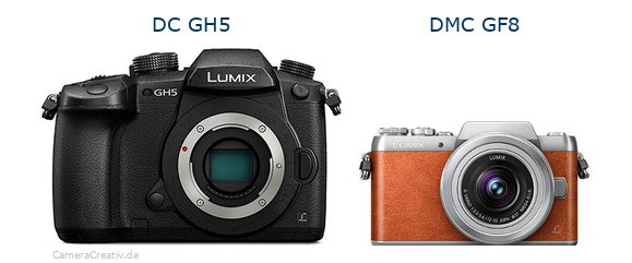 Panasonic dc gh 5 vs Panasonic dmc gf 8