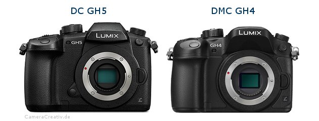 Panasonic dc gh 5 vs Panasonic dmc gh 4