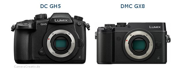 Panasonic dc gh 5 vs Panasonic dmc gx 8