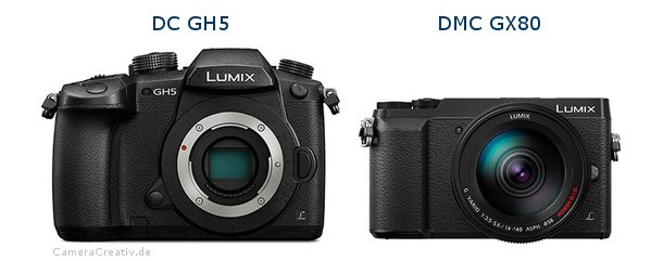 Panasonic dc gh 5 vs Panasonic dmc gx 80