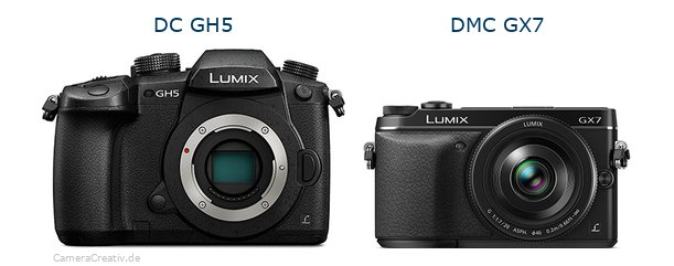 Panasonic dc gh 5 vs Panasonic dmc gx7