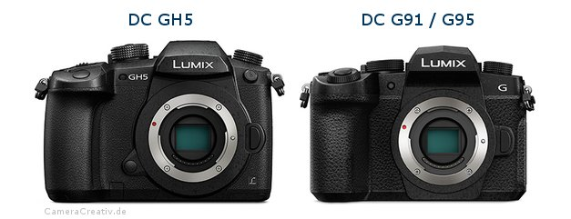 Panasonic dc gh 5 vs Panasonic lumix g91