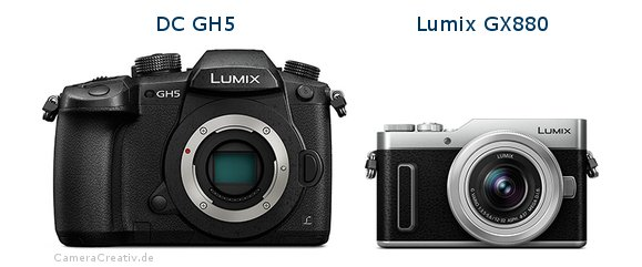 Panasonic dc gh 5 vs Panasonic lumix gx 880