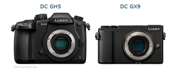 Panasonic dc gh 5 vs Panasonic lumix gx 9