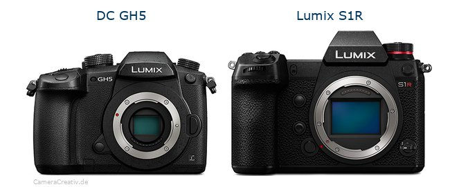 Panasonic dc gh 5 vs Panasonic lumix s1r