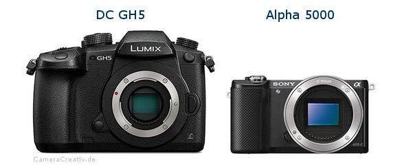 Panasonic dc gh 5 vs Sony alpha 5000
