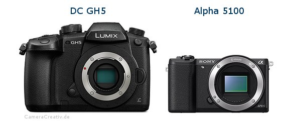 Panasonic dc gh 5 vs Sony alpha 5100