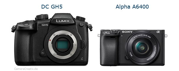 Panasonic dc gh 5 vs Sony alpha 6400