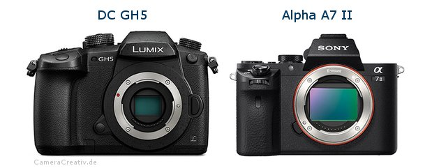 Panasonic dc gh 5 vs Sony alpha a7 ii