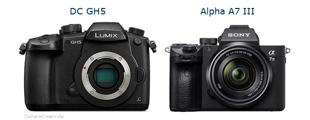 Panasonic dc gh 5 vs Sony alpha a7 iii
