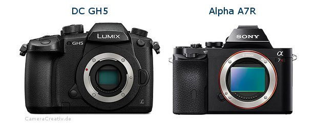 Panasonic dc gh 5 vs Sony alpha a7r