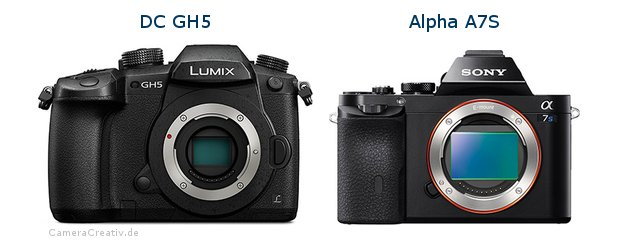 Panasonic dc gh 5 vs Sony alpha a7s