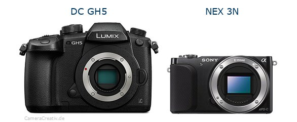 Panasonic dc gh 5 vs Sony nex 3n