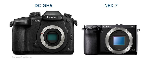Panasonic dc gh 5 vs Sony nex 7