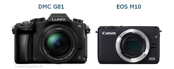 Panasonic dmc g 81 vs Canon eos m10