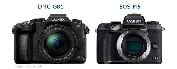 Panasonic dmc g 81 vs Canon eos m5